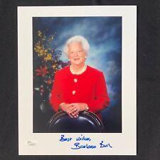 First Lady Barbara Bush signed 8x10 color photo JSA President George Bush B11