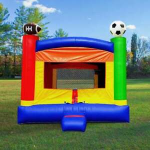 Kids Inflatable Bounce House With Blower Residential Sports Vinyl Jumper Castle