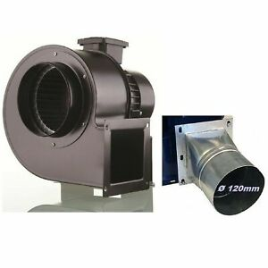 Industrial Centrifugal Blower Extractor Fan Dust Fume + Adapter 120 mm