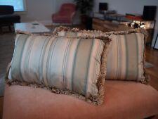 Striped Silk Pillows