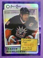 2007-08 O-Pee-Chee Hockey Season Highlights #SH9 Jaromir Jagr NYR 600th Goal