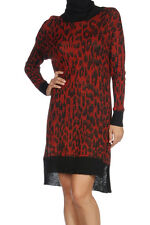 NEW DIESEL KNIT DRESS ALPACA WOOL JUMPER XS 2 6 $450 WOMEN RED TUNIC TURTLENECK