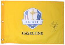 2016 RYDER CUP (Hazeltine) - RICKIE FOWLER - SIGNED Screen Print GOLF FLAG