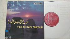 SABAH THE SINGING NIGHTINGALE *ARABIC SINGER*UK PARLOPHONE 1st PRESS 60s VINYL*