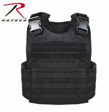 Rothco MOLLE Plate Carrier Vest Black - Carries soft / heavy plates