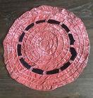 """Vintage Table Mat Placemat Velvet Doily Round Handmade Swirl 14"""""""