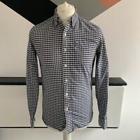 LEVIS Shirt Size Small BLUE WHITE | Mens CHECK Smart Casual Long Sleeve