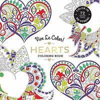 Vive Le Color! Hearts Coloring Book  VeryGood