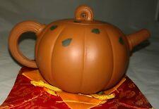 Vintage Signed Chinese Yixing Zisha Oriental Clay Teapot - Large