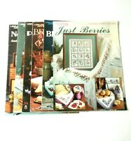 Leisure Arts Leaflet Pattern Books Cross Stitch Needlepoint Vintage Lot Craft