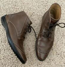 TODS Women Size US 5 Brown Ankle Granny Boot Lace Up Size 35 Leather $850 Italy