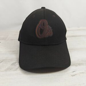 New Era Baltimore Orioles O's 39THIRTY Clubhouse Cap Fit Hat Black Medium-Large