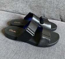 Clarks Ladies Sandals 4 D Summer Holiday Flat Bright Deja Leather New Casual