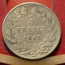 LUIGI FILIPPO I RE DI FRANCIA 5 FRANCS 1845 FRANCE SILVER