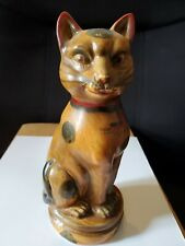 Brown Sphynx Cat Figurine/Statue by Mann Mcmlxxx Hong Kong
