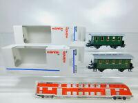 BZ634-0,5# 2x Märklin H0/AC 4039 Personenwagen mit Plattformen sehr gut; OVP