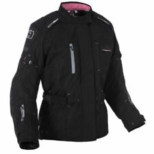 Blousons noirs longs en polyester pour motocyclette