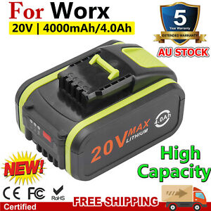 20V MAX 4.0Ah Lithium-ion Battery For WORX WA3553 WA3551 WX386 WX390 Power Tool