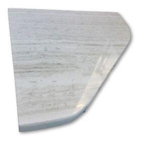 "8"" Marble Shower Corner Shelf (Grey Athena) Stone Bathroom Caddy Soap Dish"