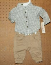 Cat & Jack Baby Boys New Born Farmer Set NWT TARGET Shirt Pants Infant