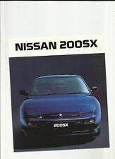 NISSAN 200SX SALES BROCHURE 1989