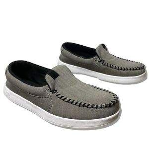 DC Shoes Villain 2 TX SE Loafers Slip On Gray Black Size 9
