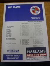 17/04/2004 Colour Teamsheet: Reading v Crewe Alexandra. Thanks for viewing our i