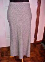 Jones New York Sport Womens Full Length Skirt SZ 10 Black Ivory Tweed Wool Nylon