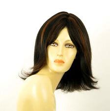 wig for women 100% natural hair black and copper intense MATHILDE 1b30 PERUK