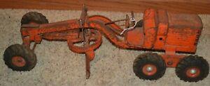 Vintage Dopeke Adams Motor Grader Diesel, Orange