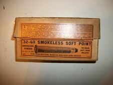 Vintage Empty Winchester .32-40 Smokeless Soft Point Cartridge Box
