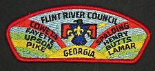 FLINT RIVER COUNCIL OA 95 INI-TO LODGE 324 FLAP PATCH RARE VARIETY CSP
