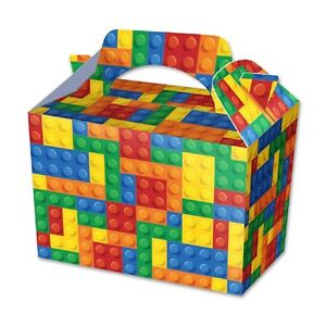 Brick Lego Food Box Party Birthday Lunch Snack Treat Boxes Loot Gift Christmas