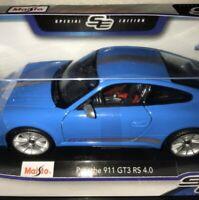 maisto 1/18 porsche 911 Special Edition Blue NIB