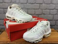 NIKE AIR MAX 95 LADIES TRIPLE WHITE TRAINERS VARIOUS SIZES T