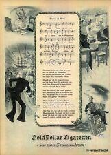 GOLD DOLLAR-SEEMANN-1950-Reklame-Werbung-genuine Advert-La publicité-nl-Versand