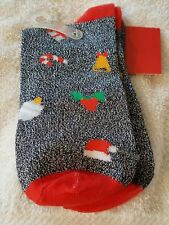 target womens crew socks candy cane belltreespresents one size christmas nwt