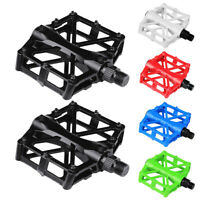 "Road Mountain Bike Pedals Flat Aluminum Sealed Bearing 9/16"" For MTB BMX"