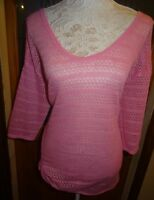 NEXT PINK LACE KNIT STRETCH JUMPER+HITCHED UP HEM SIZE 16/18/20 BNWOT