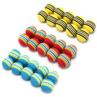 10Pcs Rainbow Stripe foam Sponge Golf Balls Swing Practice Training Aids TS
