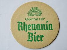 Old Beer Coaster ~ RHENANIA BIER Brewed by Krombacher Privatbrauerei Kreuztal GE