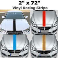 2''x72'' 183x5cm Sticker Autocollant Bande Vinyle Capot Carrosserie Sport Auto