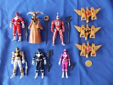 MIGHTY MORPHIN POWER RANGERS 2010 FIGURE LOT WHITE RED PINK BLACK RITA LORD ZEDD