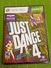 Just Dance 4 Xbox 360, 2012 Kinect Rihanna Maroon 5 Flo Rida Justin Bieber NEW!