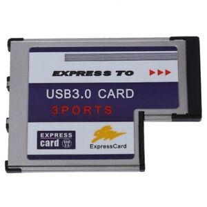1X(3 Port USB 3,0 ExpressCard Karte 54mm PCMCIA-Express-Card fuer ebook N XOL