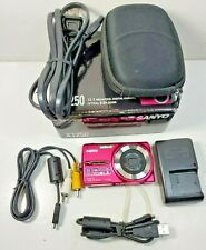 Sanyo VPC-X1250 Pink Excellent Condition Digital Camera Bundle - Clear Pictures