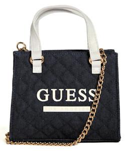 NEW GUESS Taylor Womens Handbag Satchel Crossbody Shoulder Bag Denim