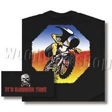 Primal Black Mens Hammer Head Short Sleeve Cycling T Shirt Small 100% Cotton