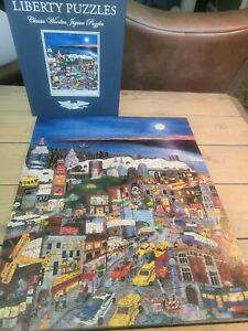 LIBERTY Classic Wooden Jigsaw Puzzle ~ Moonlight Over Manhattan ~ 562 pieces