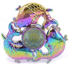 New Rainbow 3 Leaf Fish Fidget Hand Spinner EDC Relieve Stress Finger Gyro Toy
